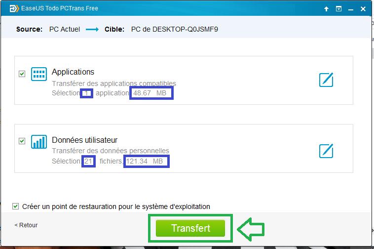 EaseUS tutoriel sospc.name transfert via internet 8
