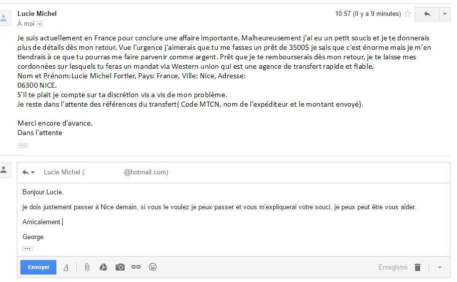 SOSPC.name quand les pirates vous écrivent 6 sans adresse george