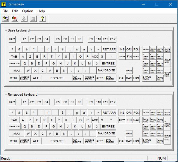 Comment changer l'affectation de mes touches de clavier