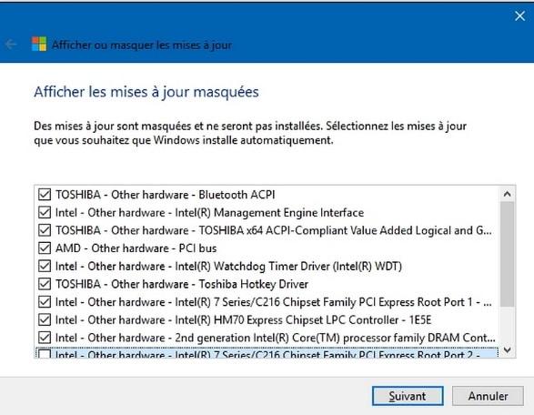 Empêcher temporairement une mise à jour de Windows, tuto didpoy www.sospc.name 14