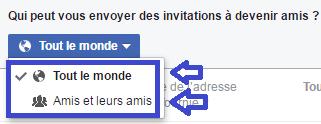 facebook confidentialité réglages j