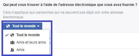 facebook confidentialité réglages k