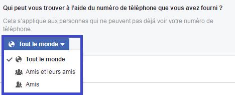 facebook confidentialité réglages l