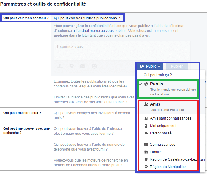 facebook confidentialité réglages sospc.name c