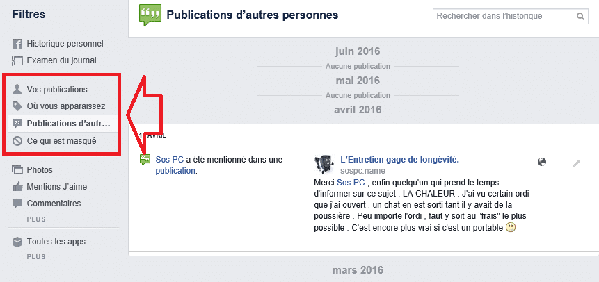facebook options de confidentialité 2