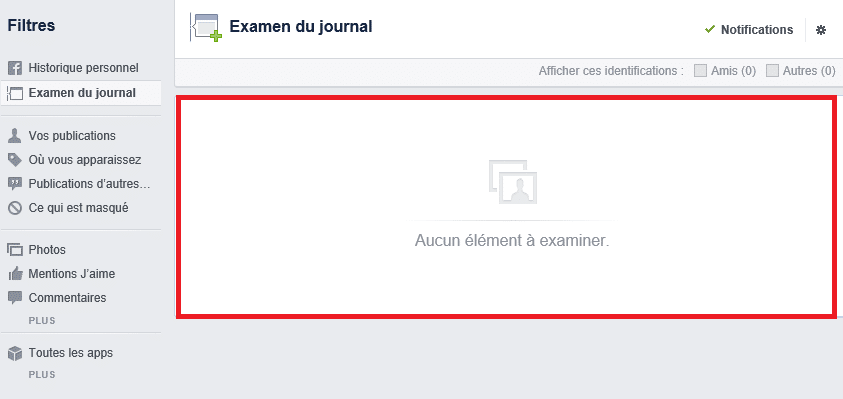 facebook options de confidentialité