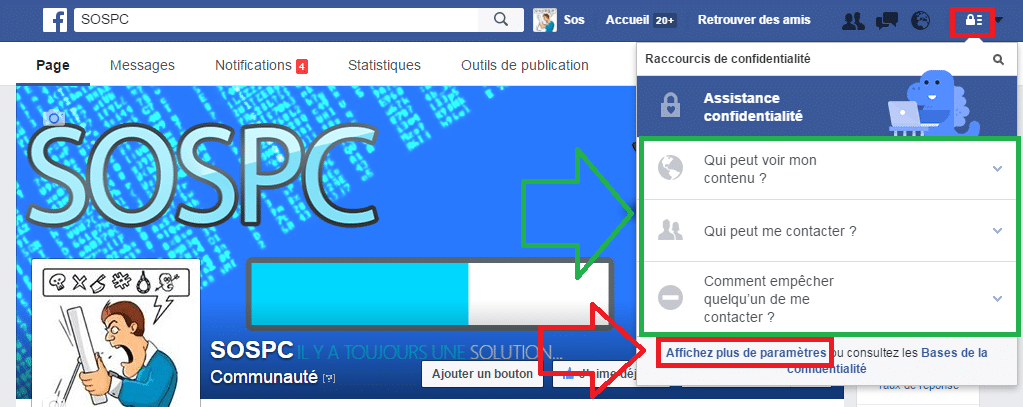 facebook tuto réglages confidentialité sospc.name 1