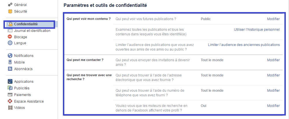facebook tuto réglages confidentialité sospc.name 2