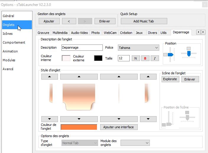 sTabLaucher une Barre Outils qui se fait discrète sospc.name configuration 3