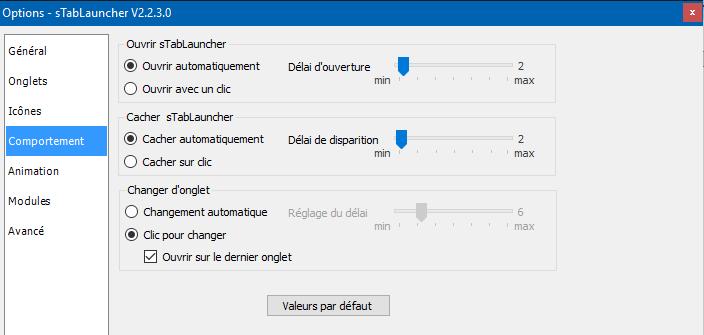 sTabLaucher une Barre Outils qui se fait discrète sospc.name configuration 5