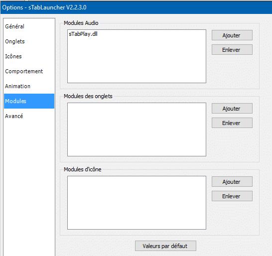 sTabLaucher une Barre Outils qui se fait discrète sospc.name configuration 8