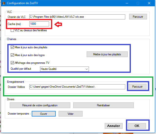 zedtv paramètres tutoriel sospc.name