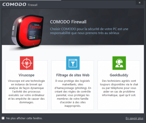 comodo firewall tutoriel d'installation sospc.name 16