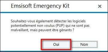 PC infecté  Emsisoft Emergency Kit, une solution d'urgence, par Didier sospc.name 11