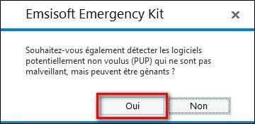 PC infecté Emsisoft Emergency Kit, une solution d'urgence, par Didier sospc.name 11