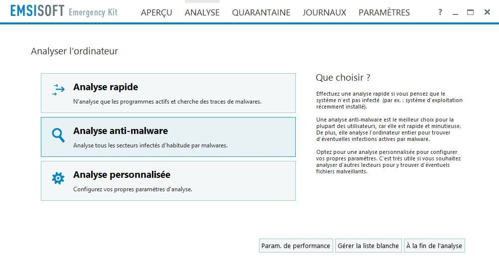 PC infecté  Emsisoft Emergency Kit, une solution d'urgence, par Didier sospc.name 17