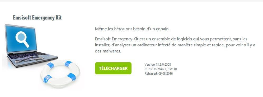 PC infecté Emsisoft Emergency Kit, une solution d'urgence, par Didier sospc.name 3