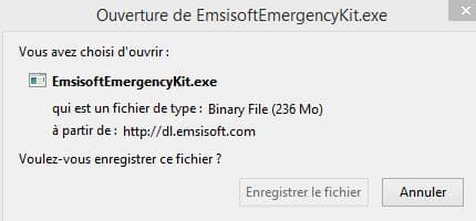 PC infecté  Emsisoft Emergency Kit, une solution d'urgence, par Didier sospc.name 4