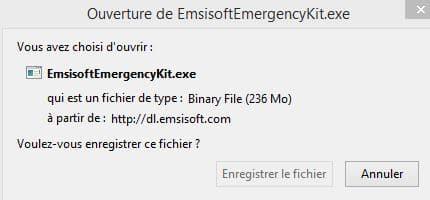 PC infecté Emsisoft Emergency Kit, une solution d'urgence, par Didier sospc.name 4