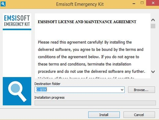 PC infecté  Emsisoft Emergency Kit, une solution d'urgence, par Didier sospc.name 6