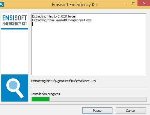 PC infecté Emsisoft Emergency Kit, une solution d'urgence, par Didier sospc.name 7