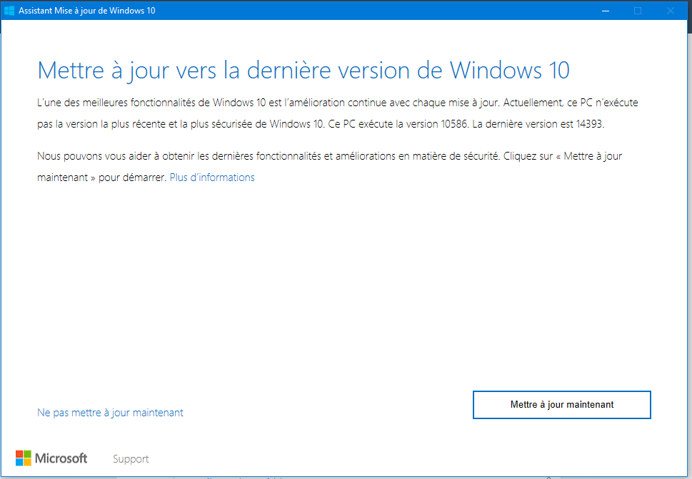 mettre à jour Windows 10 sospc.name