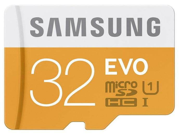 Le test du mois : Carte microSD Samsung EVO 32 Go.