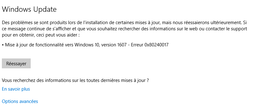 tutoriel mise à jour anniversary windows 10 12