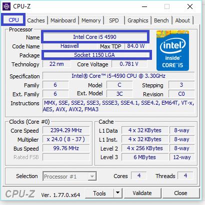 CPU-Z legaragedupc.fr tutoriel 1