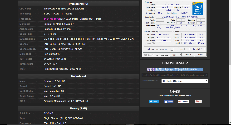 CPU-Z legaragedupc.fr tutoriel 11