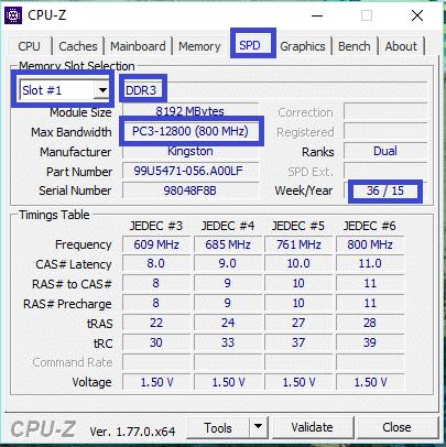 CPU-Z legaragedupc.fr tutoriel 3