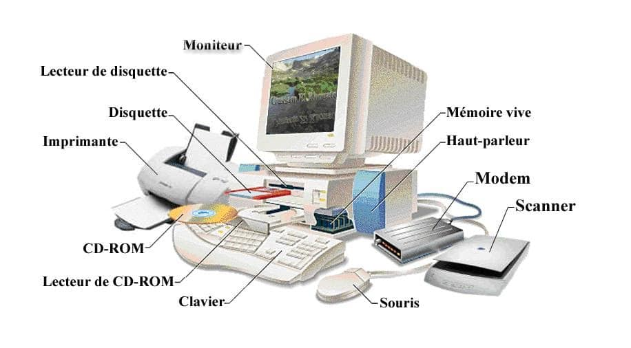 différents composants d'un pc legaragedupc.fr