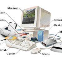 Les différents composants d'un ordinateur.