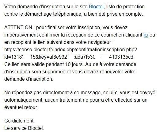 Nouveau service Bloctel : comment s'inscrire.