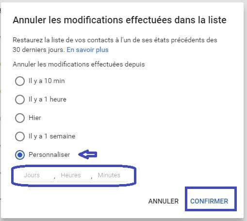 gmail boite mail récupérer contact tutoriel