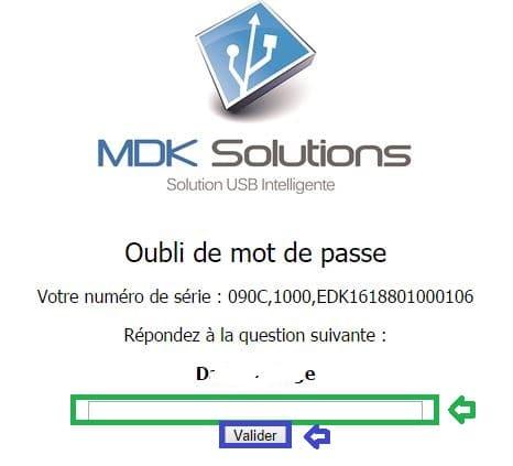 kryptkey mot de passe oublié