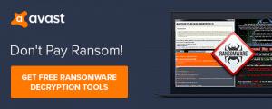 Sospc aime : Avast propose des Outils gratuits de déchiffrement des cryptages de certains Ransomwares.