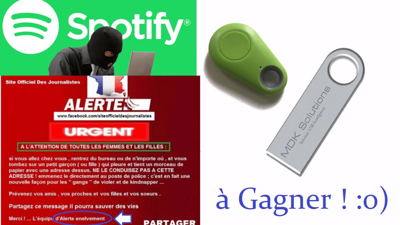 Plus de 6000 identifiants Spotify dans la nature / Concours Kryptkey ! #A.I.D.E 22.