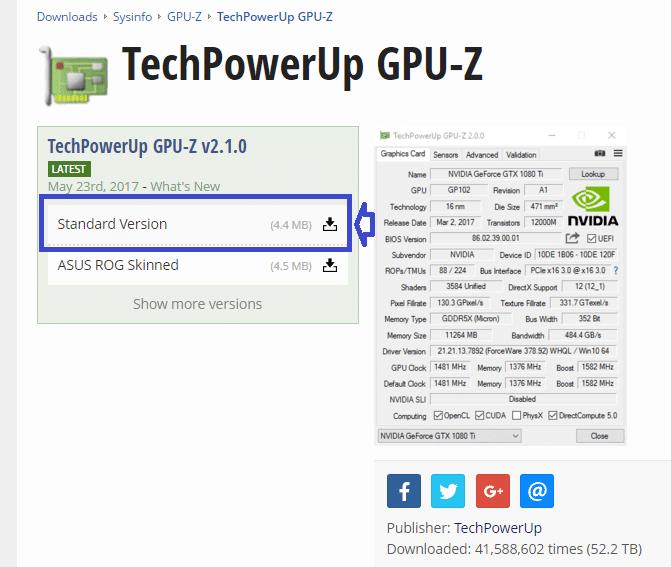 GPU-Z 2 TÉLÉCHARGER DOWNLOAD