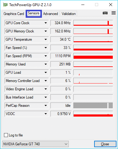 GPU-Z 2 MONITOTING TEMPERATURES