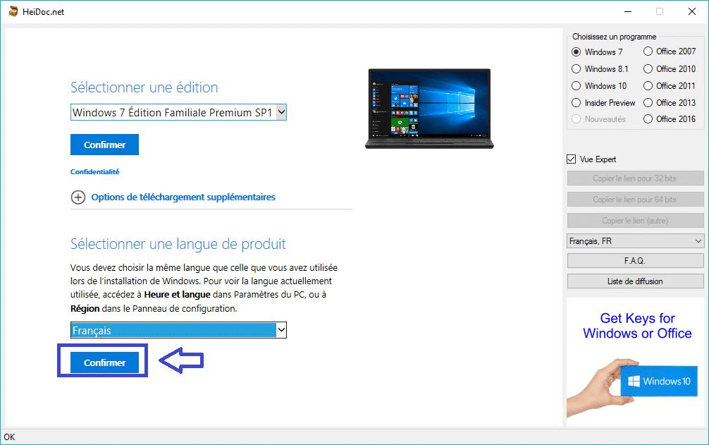 HeiDoc.net : téléchargez facilement des ISO de Windows 7 à 10 tutoriel complet