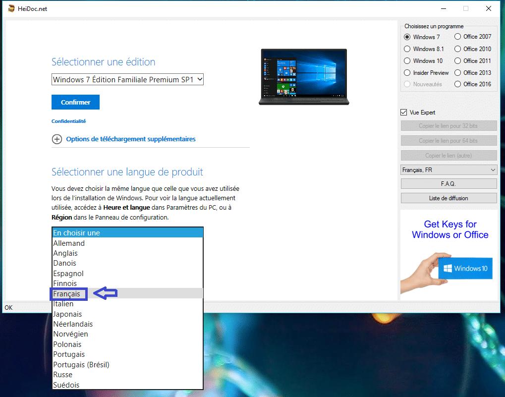HeiDoc.net : téléchargez facilement des ISO de Windows 7 à 10 tutoriel