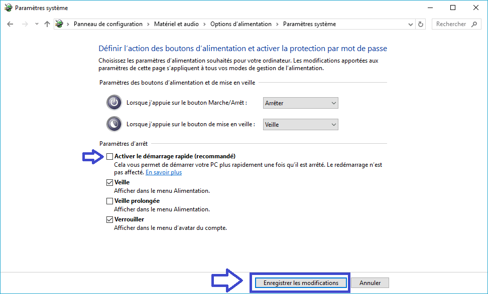 mode alimentation windows 10 tutoriel détaillé sospc.name