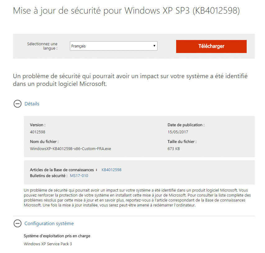 patch français wannacrypt