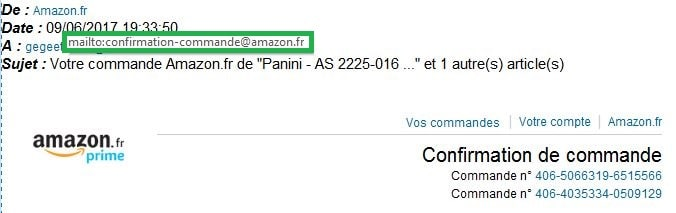 adresse originale amazon commande