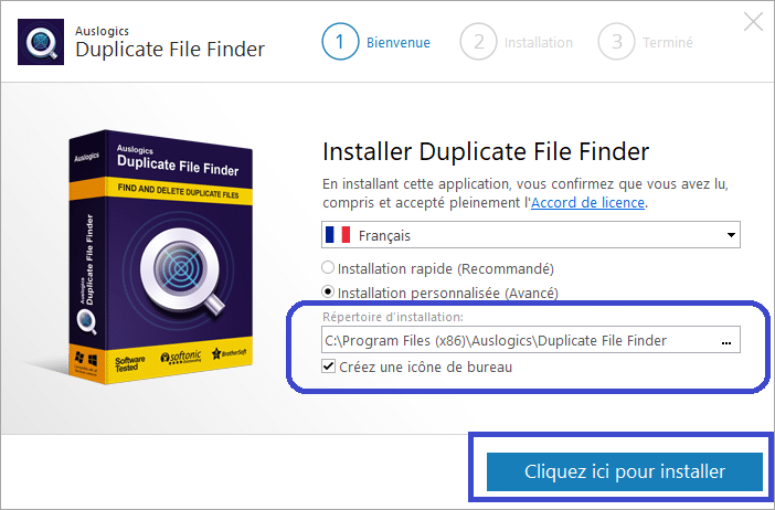 Duplicate File Finder installer 2