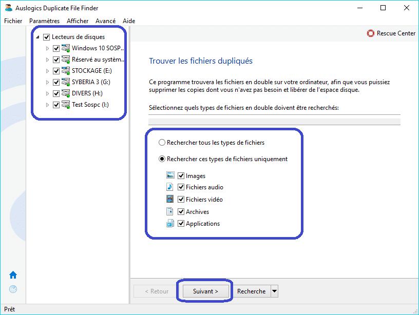 Duplicate File Finder tutoriel 2