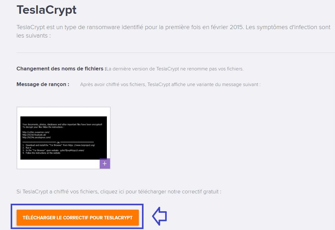avast outils gratuits déchiffrement teslacrypt