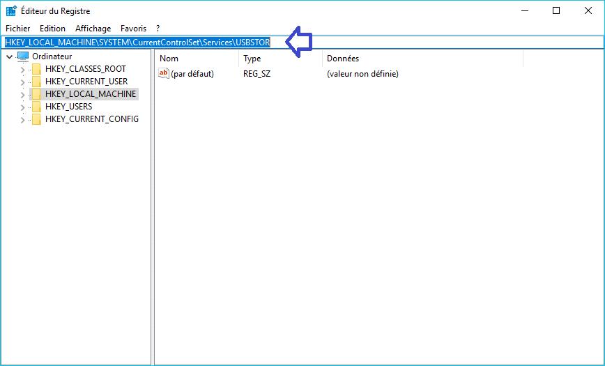 bloquer port usb aide explication