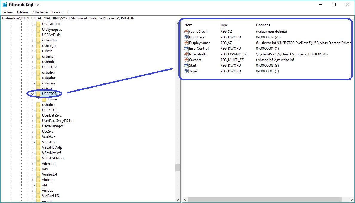 bloquer port usb tutoriel